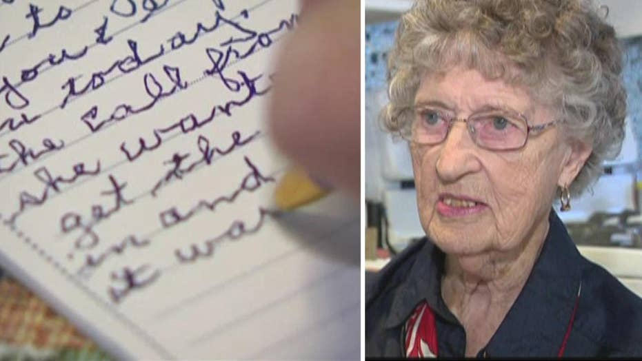 98-year-old grandma doesn't let age affect her patriotism