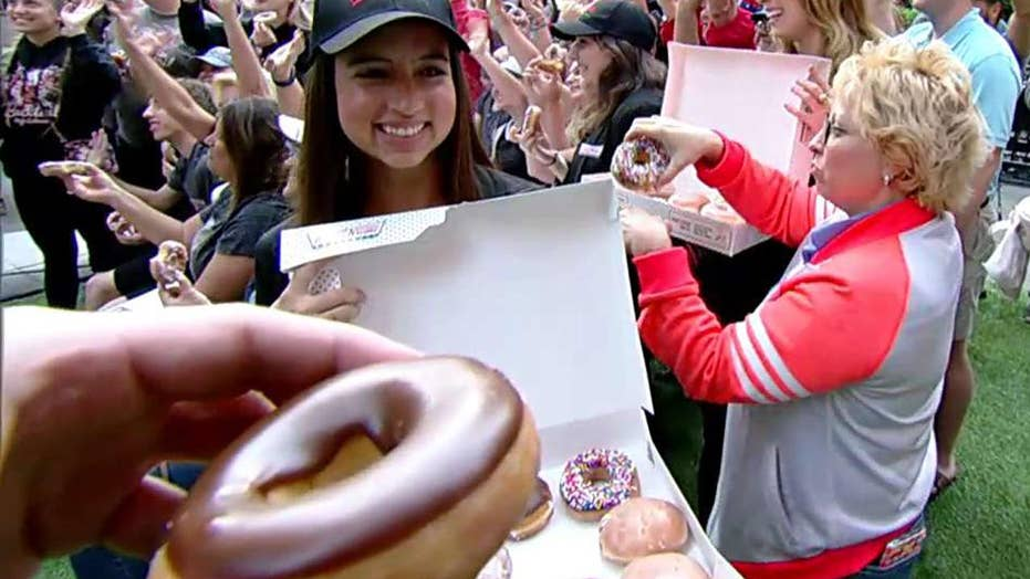 Celebrating National Doughnut Day with Krispy Kreme