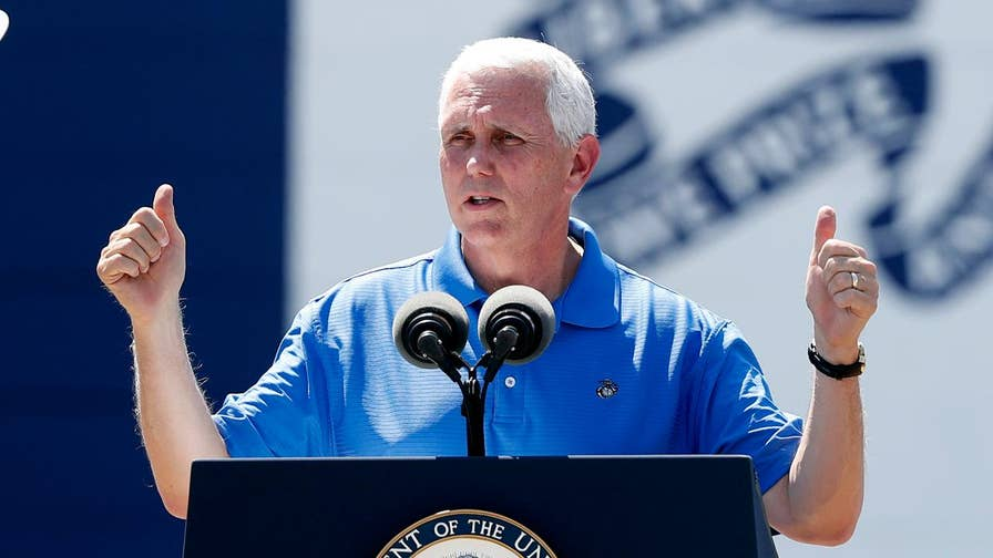 Vice president speaks in Iowa at military fundraiser event