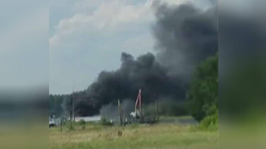 Boat bursts into flames in NC