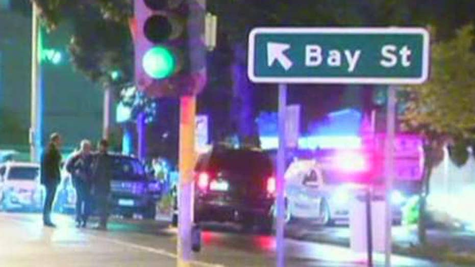 One man dead, three cops injured in Australian terror attack