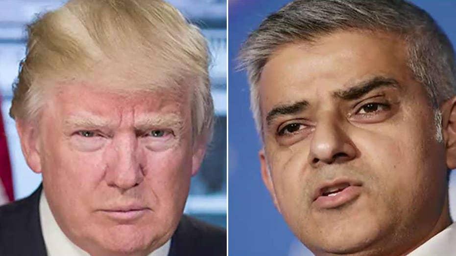 President Trump renews war of words with London mayor