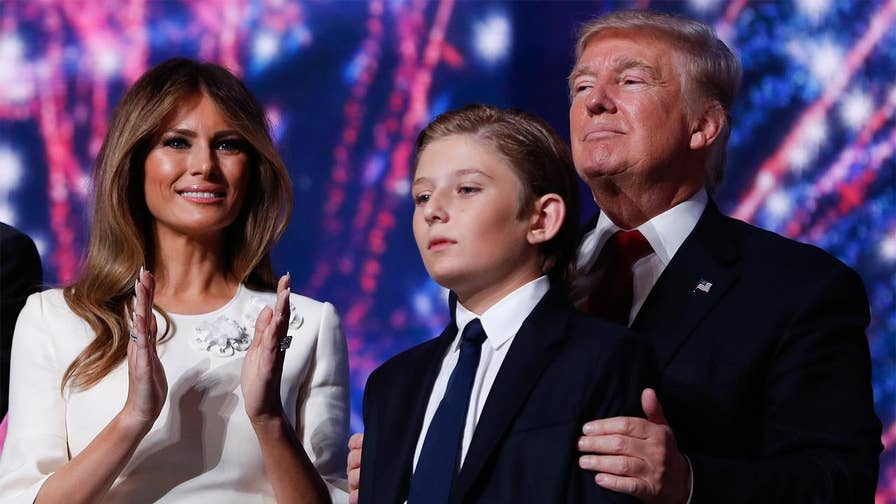 Family was delaying the move until Barron finished the school year