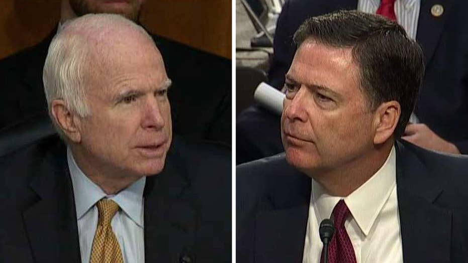 Sen. McCain questions James Comey at Senate hearing