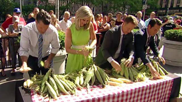 'Fox & Friends' anchors challenged to corn shucking contest
