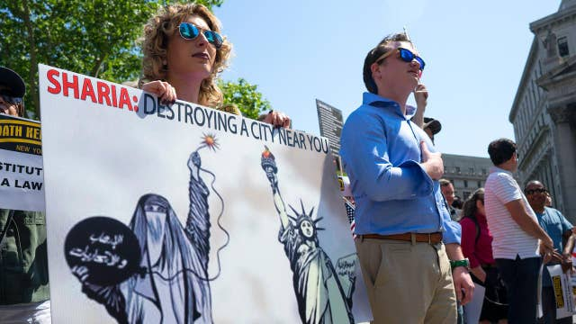 MSM portrays anti-Sharia protests as anti-Islam