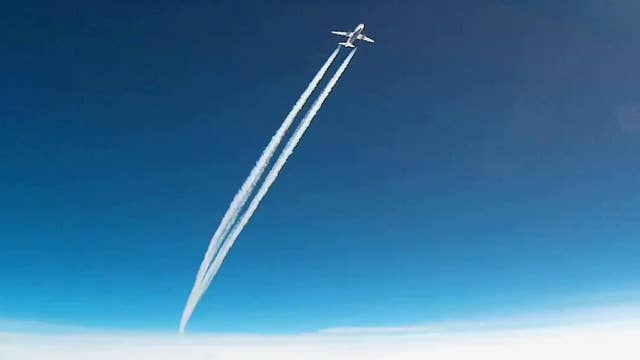 Close call: Commercial jetliner screams past weather balloon