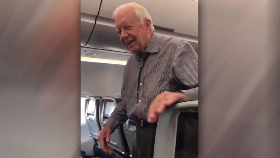 Jimmy Carter surprises airline passengers