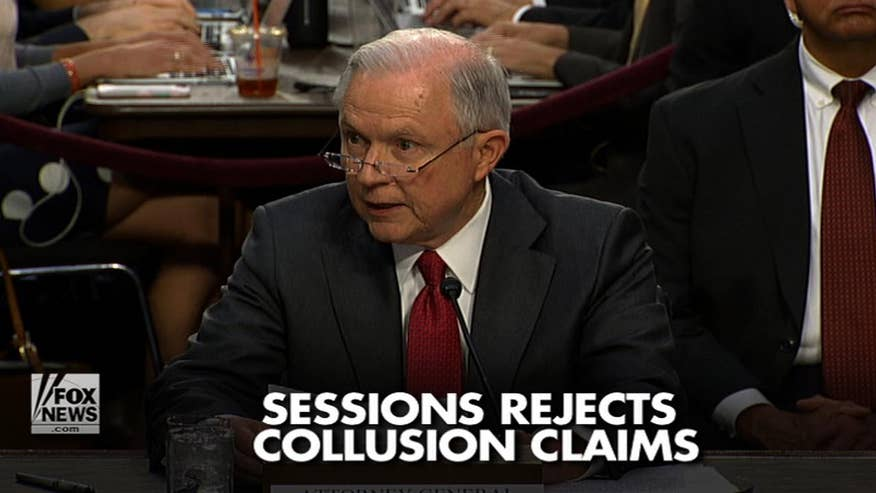 Attorney General Jeff Sessions' denounced suggestions he colluded with Russian officials and defended the firing of former FBI Director James Comey. Here are the top moments from his testimony