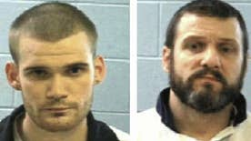 A nationwide manhunt is underway for two inmates who allegedly killed two correctional officers and escaped from a prison transport bus
