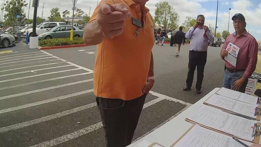 Democratic Party of Orange County Vice-Chair Jeff LeTourneau is seen verbally accosting gay signature gatherers during Pride weekend