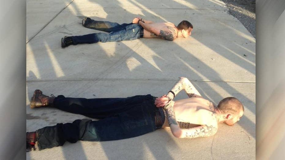 Hero homeowner holds fugitives at gunpoint until cops arrive