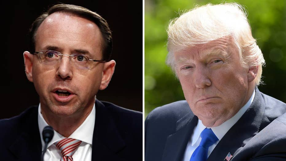 President Trump slams Rosenstein over Russia probe