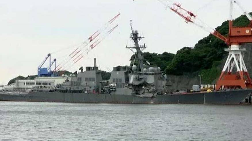 USS Fitzgerald crashed into cargo ship near Japan