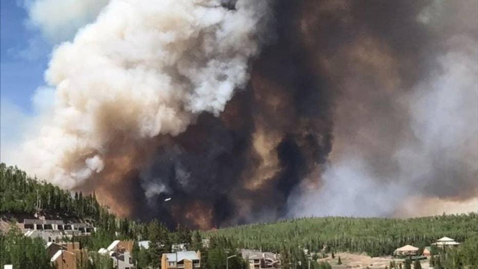 Utah ski town fighting massive fire