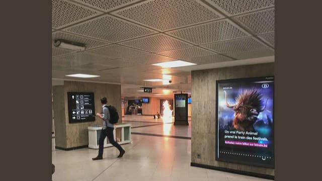 Witness describes explosions, fire at Brussels train station