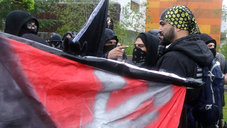 Alt-left anti-fascist activist group, 'Antifa,' continues to show up at political protests on college campuses across the US, sparking violence to promote its agenda