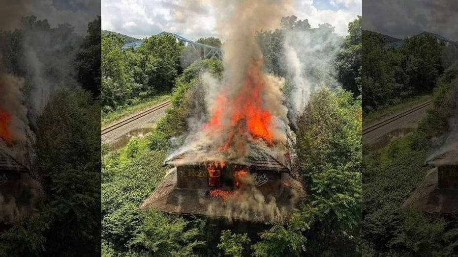 Historic Pennsylvania train station destroyed in fire