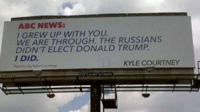 Trump supporter buys billboard, slams ABC News