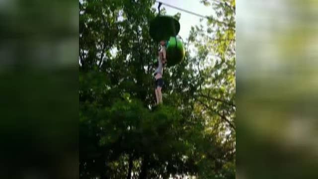 Girl falls from Six Flags sky ride