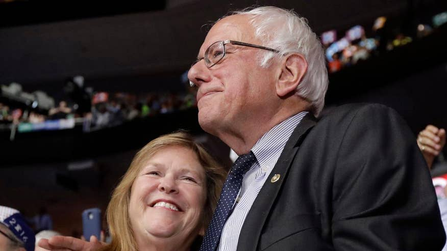 Jane Sanders is being investigated for allegations of bank fraud during her tenure at Burlington College; James Rosen has the details for 'Special Report'