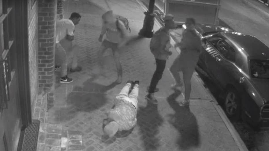 Brutal attack on tourists caught on tape; suspects sought