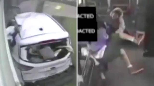 Violent city bus crash tosses driver, passengers