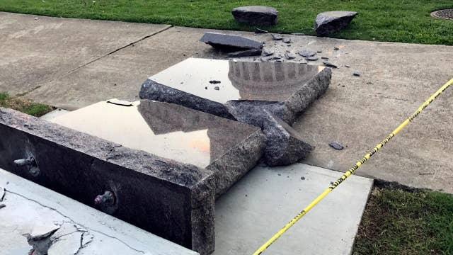 Ten Commandments monument destroyed in Arkansas