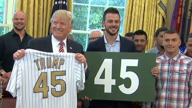 President Trump meets with World Series champs Chicago Cubs