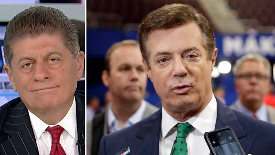 Manafort worked as Trump's campaign chairman from March until August of 2016; reaction from Fox News senior judicial analyst Judge Andrew Napolitano