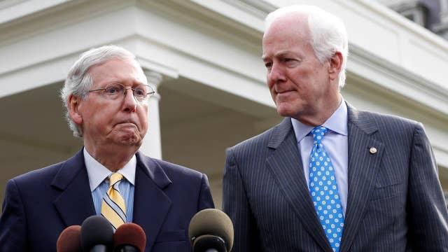 Senate Republicans scramble to rework the health bill