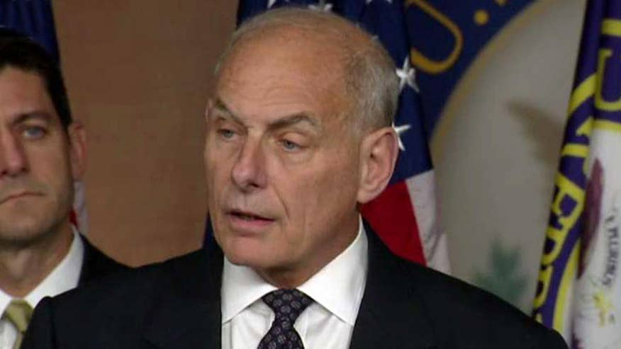 Homeland security secretary says No Sanctuary for Criminals Act and Kate's Law demonstrate that the U.S. will no longer 'look the other way'