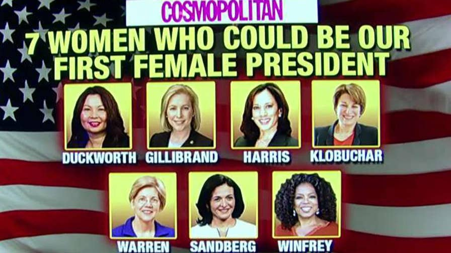 The publication is being blasted for its Democrat-only list of 'women who could be' president; reaction on 'Outnumbered'