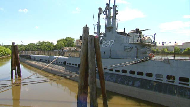 WWII submarine stuck in muck in New Jersey