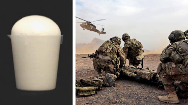Rapidly expanding 'biofoam' could save soldiers' lives