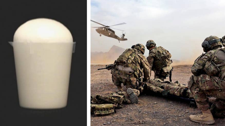 Fox Firepower: Allison Barrie with a closer look at Arsenal Medical's ResQ Foam, a new technology that would let combat medics stabilize patients for transport to field hospitals