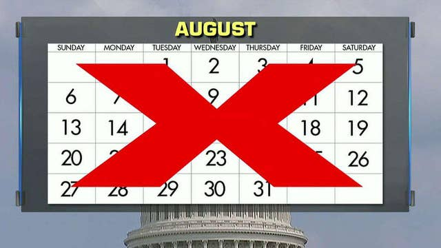 Growing pressure on Congress to cancel August recess