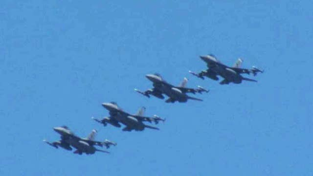 113th Wing of Air National Guard flies over DC
