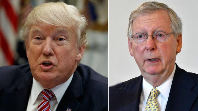 Trump issues challenge to Senate on health care