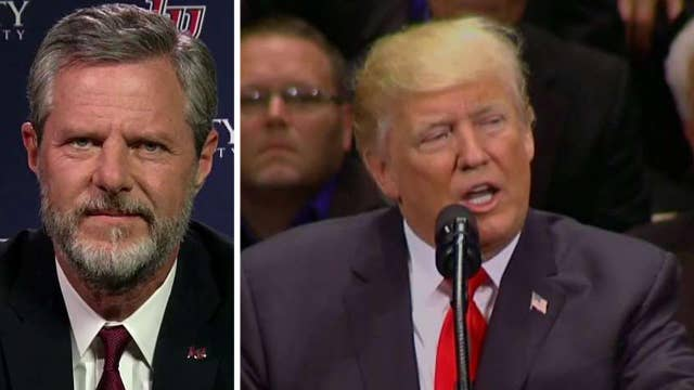 President Trump honors veterans at faith-based event