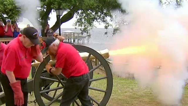 'Thor' cannon is fired every July 4th in Southport, NC