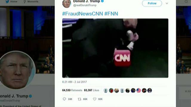 Trump posts altered WWE video of him attacking 'CNN'