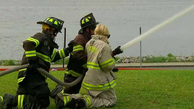 Proud American: Southport, NC's fireman relay