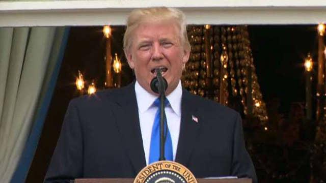 President Trump remarks at White House military picnic