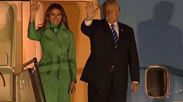 President Trump arrives in Poland ahead of G-20 summit