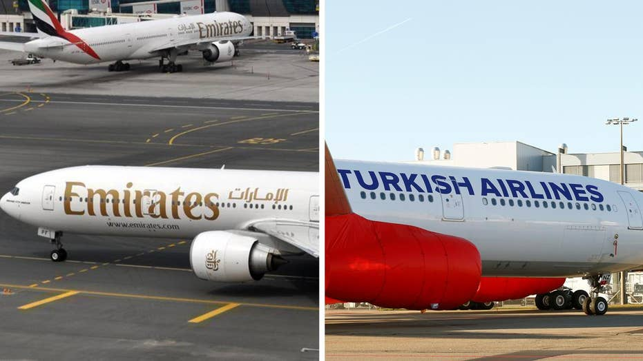US lifts electronics ban for Emirates, Turkish Airlines