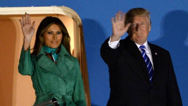 President Trump arrives in Poland ahead of G20 summit