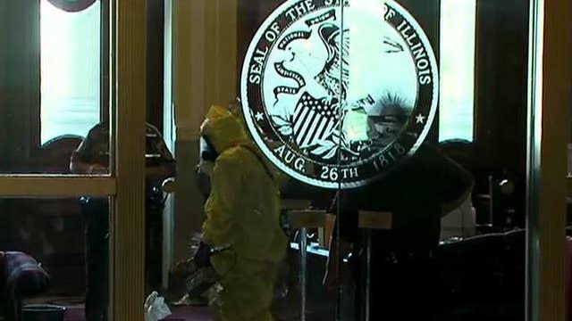 Illinois statehouse on lockdown amid 'white powder' incident