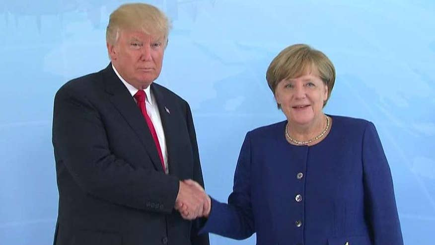President Trump met with German Chancellor Angela Merkel; chief White House correspondent John Roberts reports from Hamburg, Germany