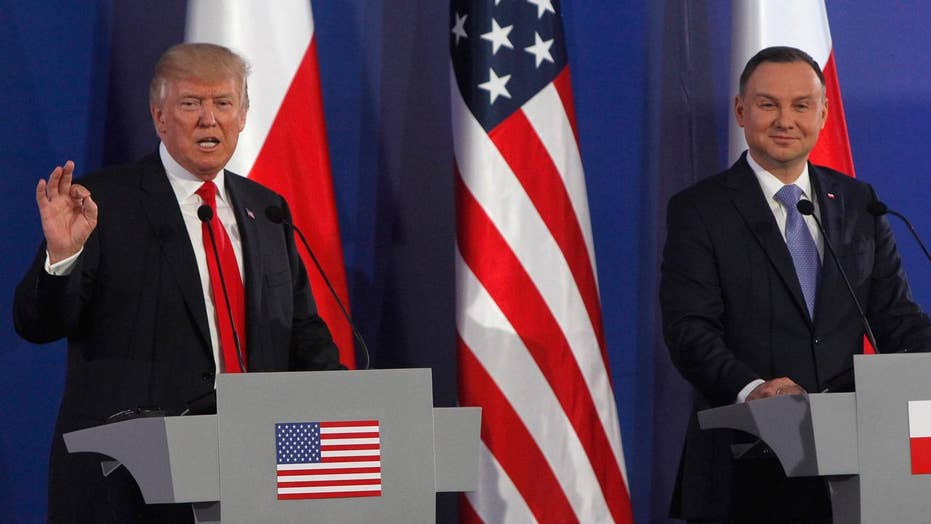 Trump and Polish President Duda give joint press conference